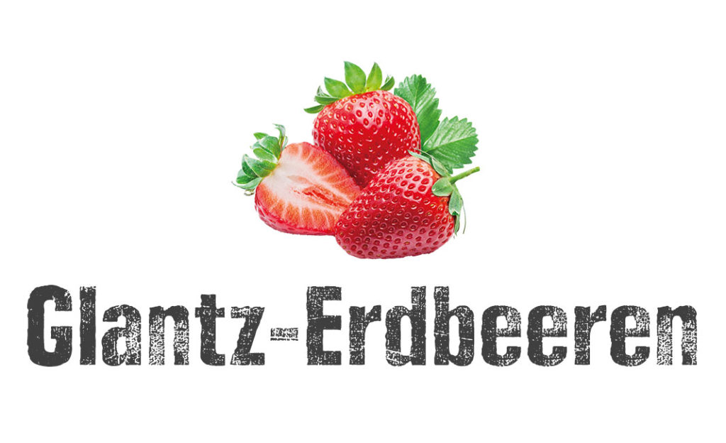 Glantz Erdbeeren Logo EDEKA Woytke in Hamburg